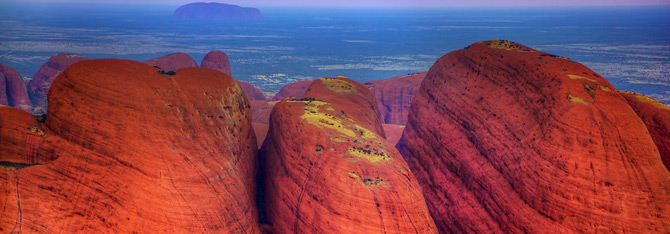 The Olgas from the Air